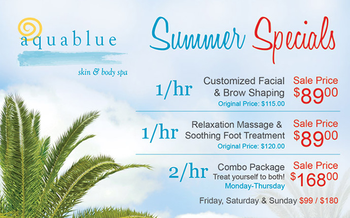 Aquablue Holiday Specials Spa