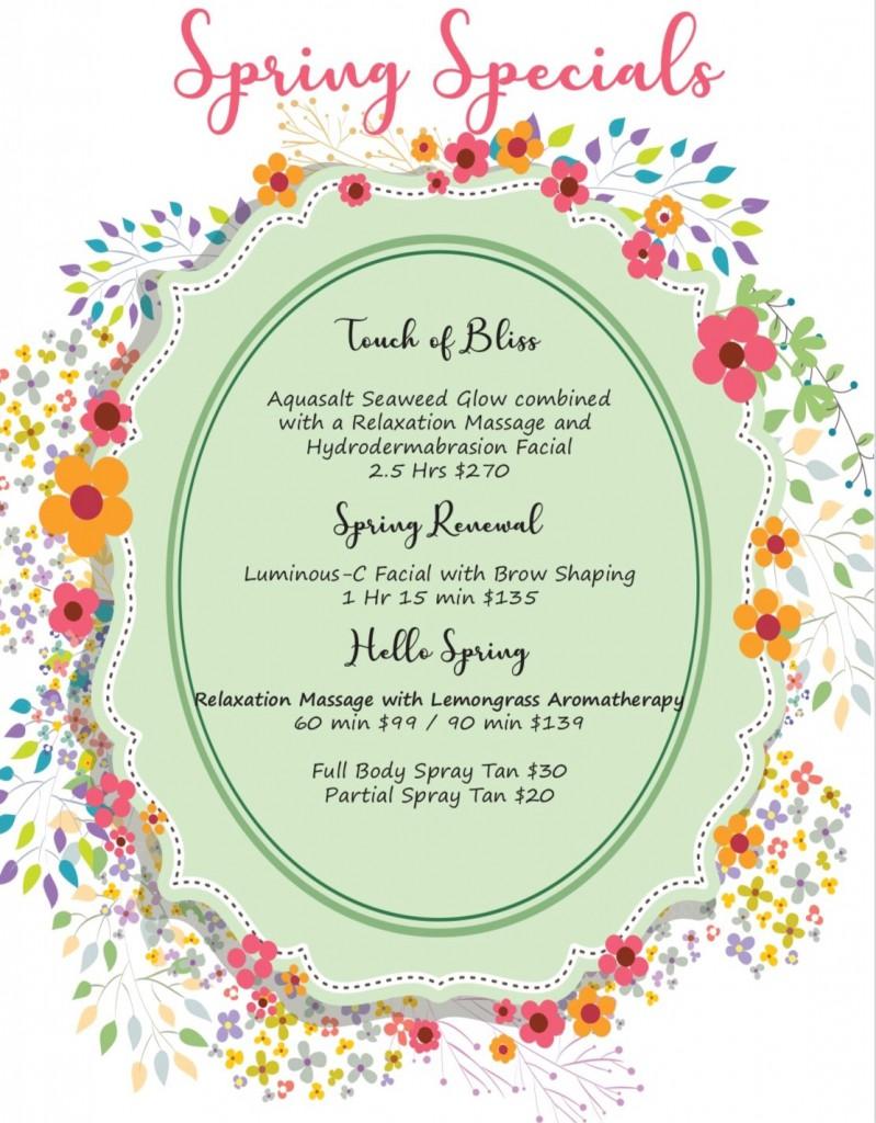 Spring Specials 2019